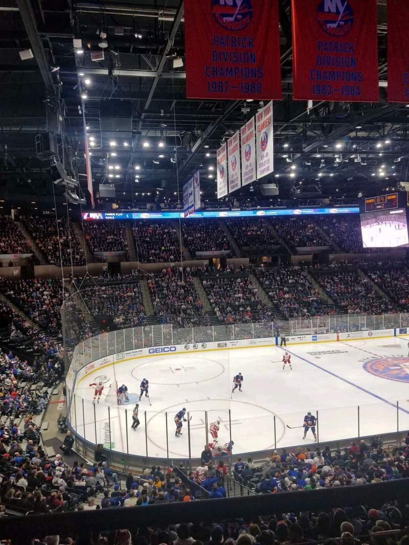 Vista sentada para Nassau Veterans Memorial Coliseum Secção 226 Fila 1 Lugar 1