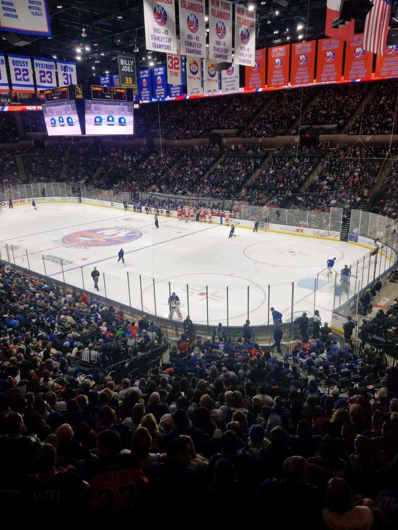 Vista sentada para Nassau Veterans Memorial Coliseum Secção 238 Fila 1 Lugar 1