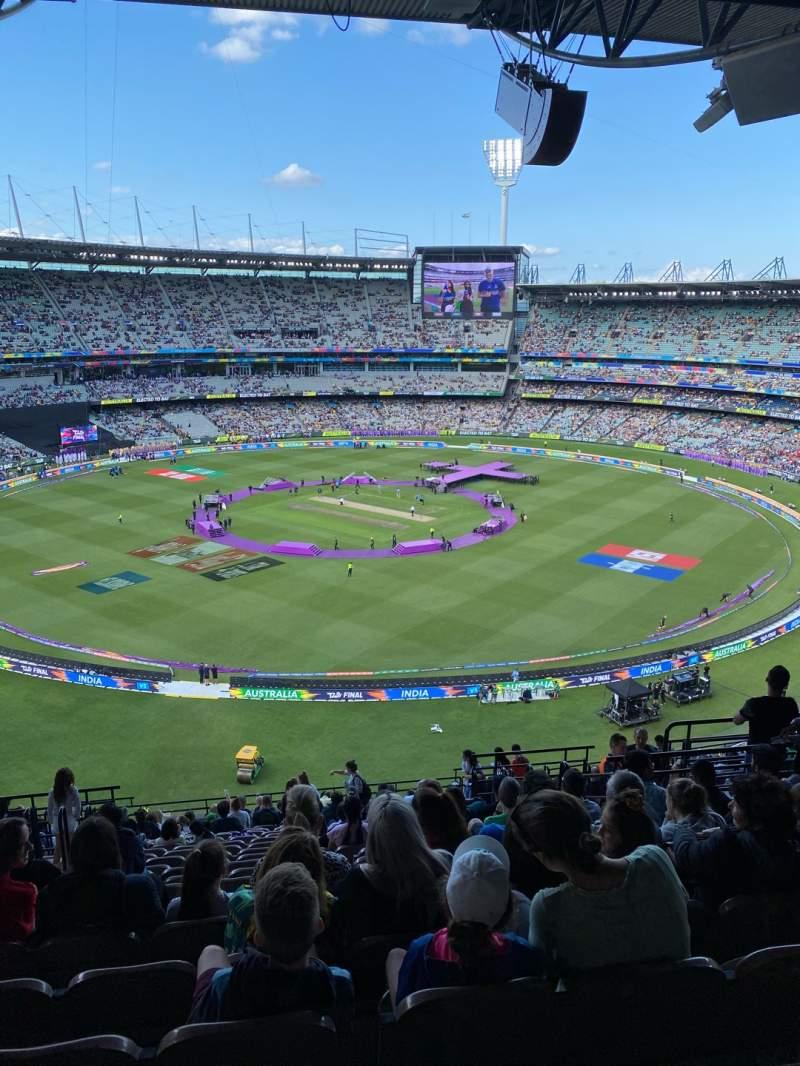Vista sentada para Melbourne Cricket Ground Secção Q27 Fila W Lugar 10