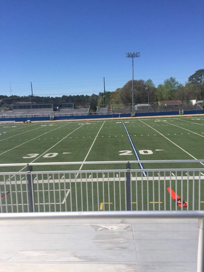 Vista sentada para Luther Nick Jeralds Stadium Secção 103 Fila 3 Lugar 10
