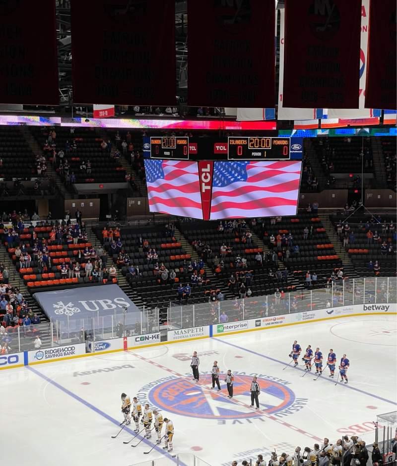 Vista sentada para Nassau Veterans Memorial Coliseum Secção 226 Fila 9 Lugar 8