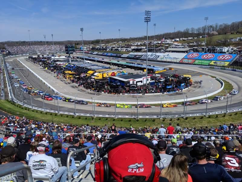 Vista sentada para Martinsville Speedway Secção EE Fila 38 Lugar 14