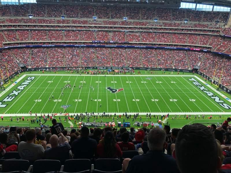 Vista sentada para NRG Stadium Secção 609 Fila L Lugar 13