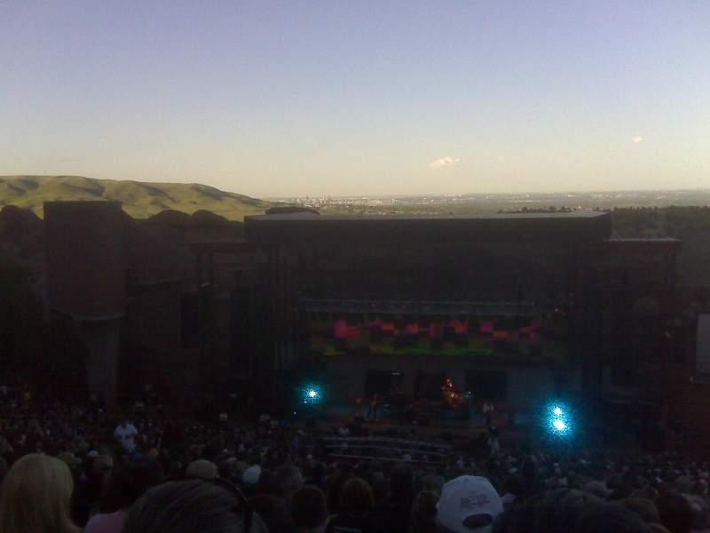 Vista sentada para Red Rocks Amphitheatre Secção Reserved Fila 38 Lugar 72