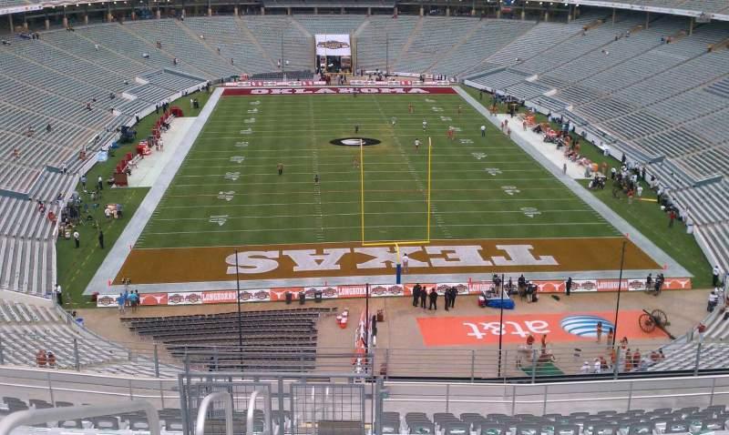 Vista sentada para Cotton Bowl Secção 117 Fila 23 Lugar 31