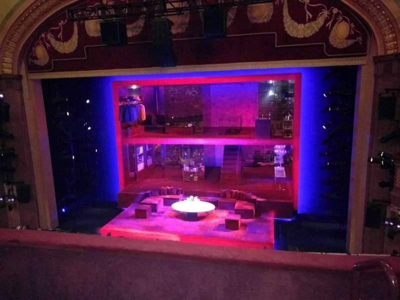 Vista sentada para Booth Theatre Secção Mezzanine C Fila C Lugar 114