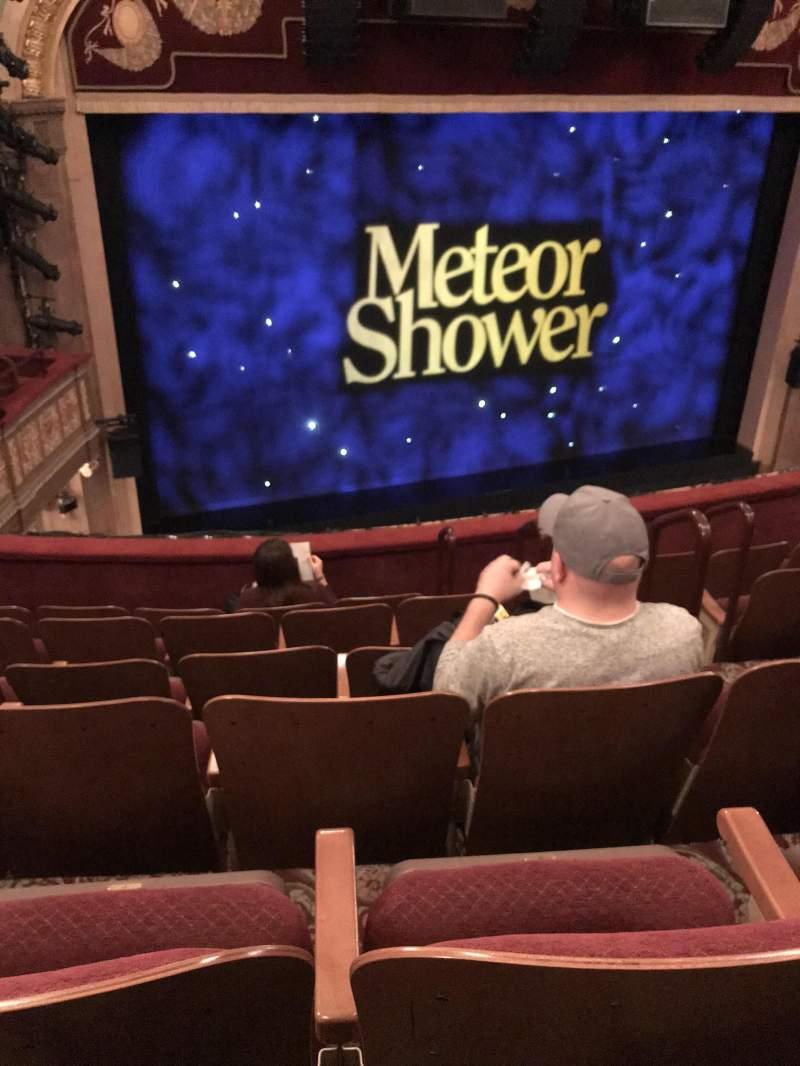 Vista sentada para Booth Theatre Secção Mezzanine L Fila F Lugar 7