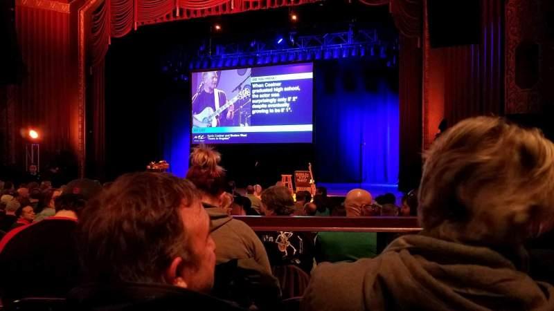 Vista sentada para Royal Oak Music Theater Secção B Right Fila C Lugar 29