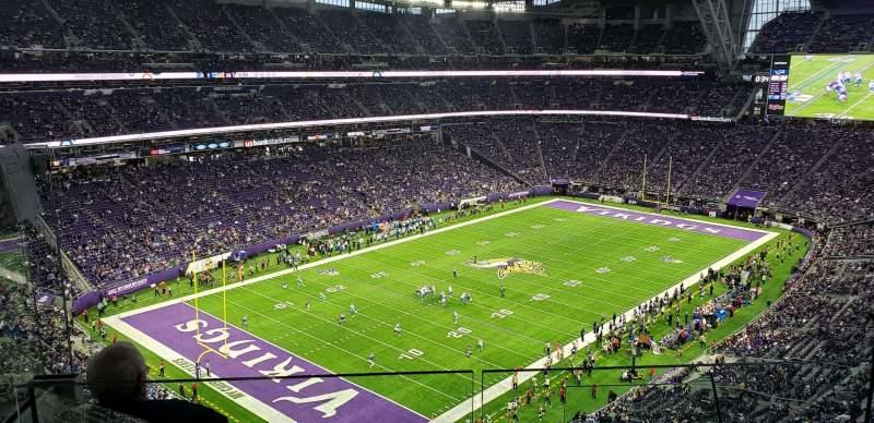 Vista sentada para U.S. Bank Stadium Secção 349 Fila E Lugar 3