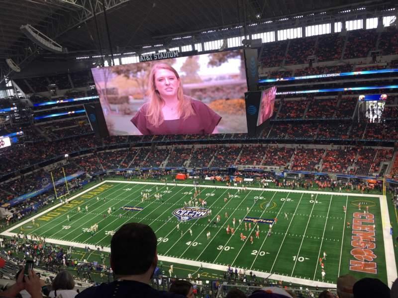 Vista sentada para AT&T Stadium Secção 439 Fila 14 Lugar 8