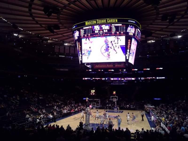 Vista sentada para Madison Square Garden Secção 103 Fila 10 Lugar 1