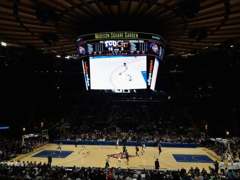 Vista sentada para Madison Square Garden Secção 107 Fila 20 Lugar 16
