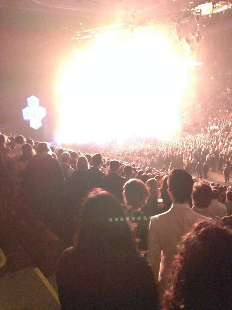 Vista sentada para Scotiabank Arena Secção 106 Fila 21 Lugar 12
