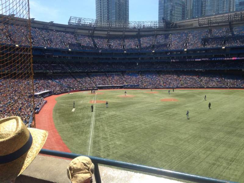Vista sentada para Rogers Centre Secção 209L Fila 2 Lugar 105