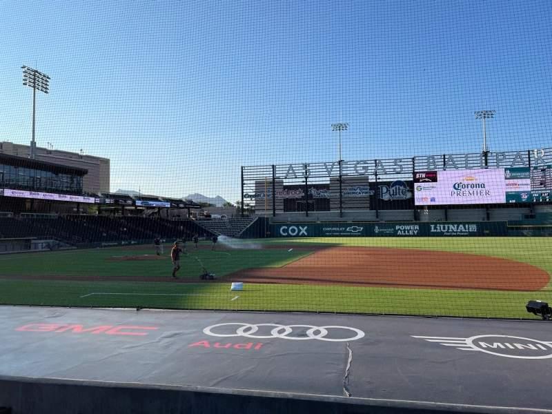 Vista sentada para Las Vegas Ballpark Secção 106 Fila H Lugar 6