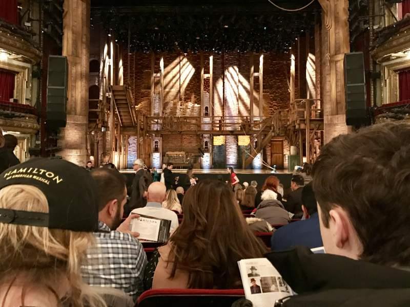 Vista sentada para CIBC Theatre Secção Orchestra C Fila S Lugar 109
