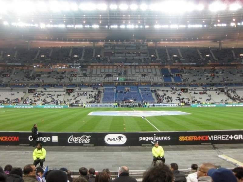 Vista sentada para Stade de France Secção Tribune Base- Est G5 Fila 10 Lugar 10