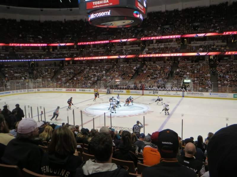Vista sentada para Honda Center Secção 221 Fila Q Lugar 2