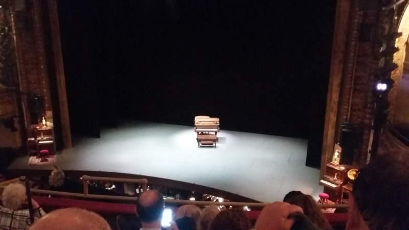 Vista sentada para Palace Theatre (Broadway) Secção L Mezz Fila D Lugar 2,4,6,8,10