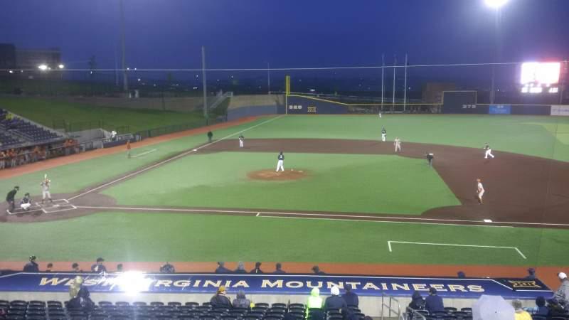 Vista sentada para Monongalia County Ballpark Secção 108 Fila R Lugar 24