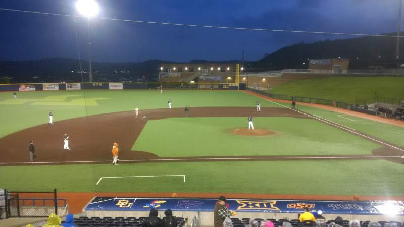 Vista sentada para Monongalia County Ballpark Secção 102 Fila R Lugar 1