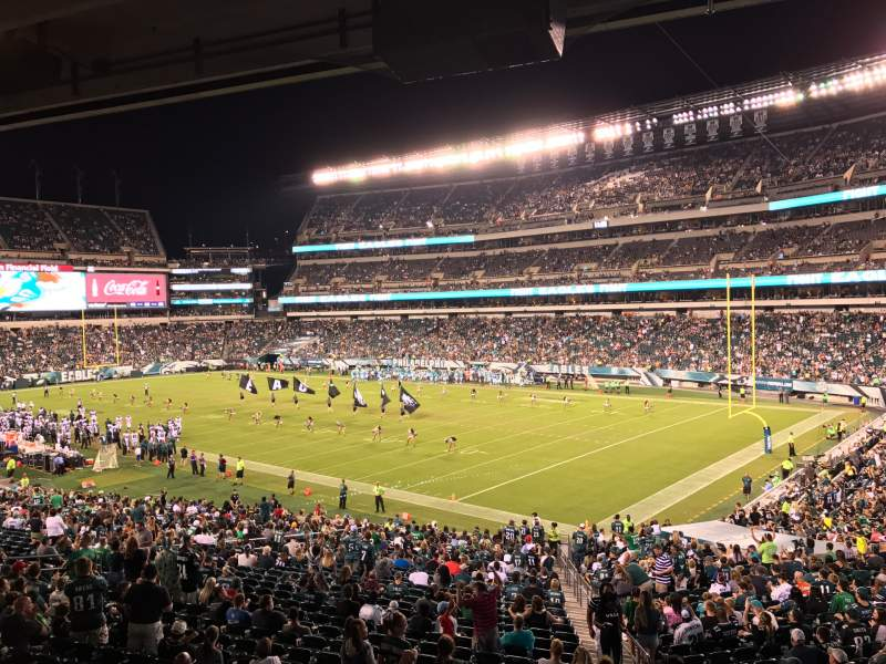 Vista sentada para Lincoln Financial Field Secção LS72 Fila 3 Lugar 5
