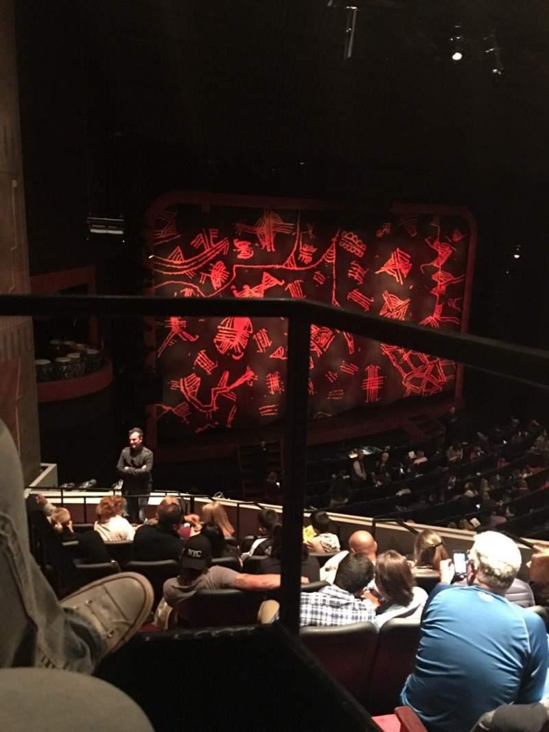 Vista sentada para Minskoff Theatre Secção Mezzanine Box Left Fila Box 1 Lugar 1