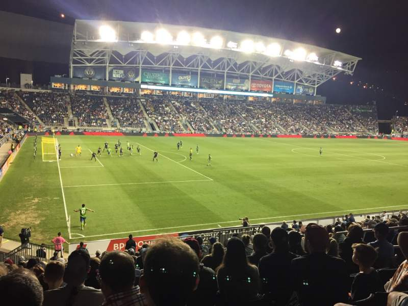 Vista sentada para Talen Energy Stadium Secção 112 Fila V Lugar 11