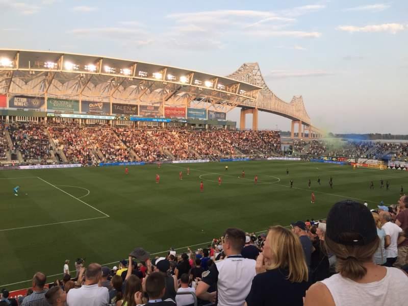 Vista sentada para Talen Energy Stadium Secção 112 Fila V Lugar 105