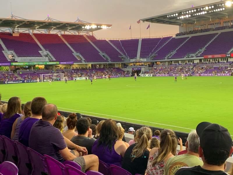Vista sentada para Exploria Stadium Secção 31 Fila K Lugar 2