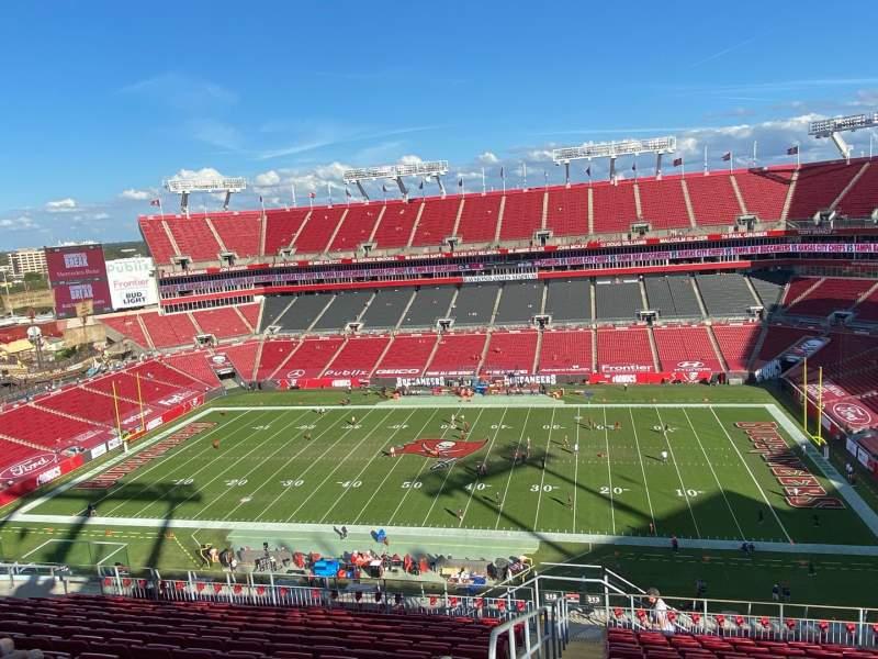 Vista sentada para Raymond James Stadium Secção 313 Fila P Lugar 1