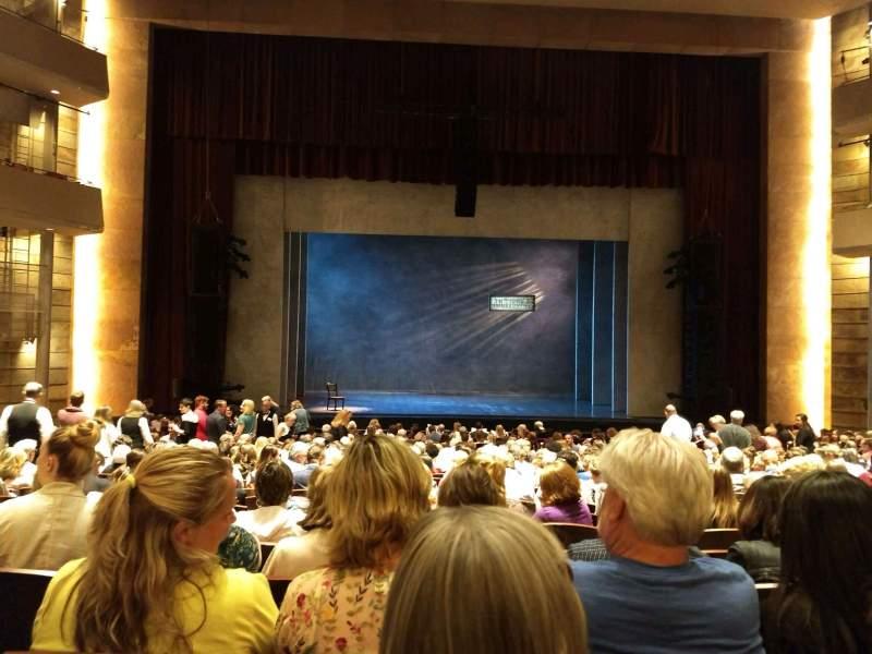 Vista sentada para The Buell Theatre Secção Orchestra C Fila U Lugar 20