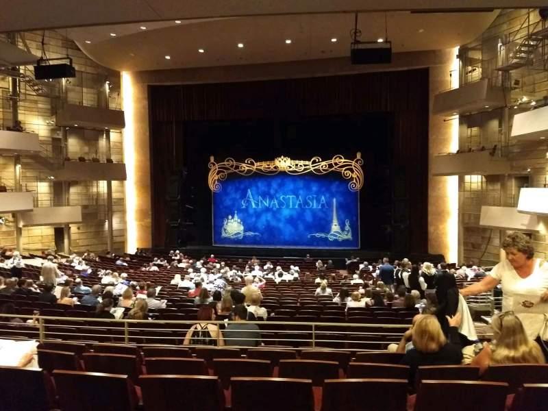 Vista sentada para The Buell Theatre Secção Orchestra C Fila UU Lugar 3