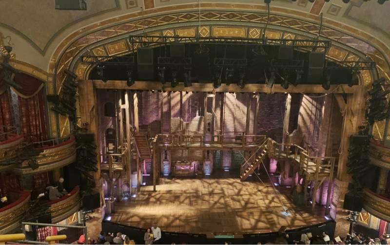 Vista sentada para Richard Rodgers Theatre Secção Front Mezzanine C Fila E Lugar 112