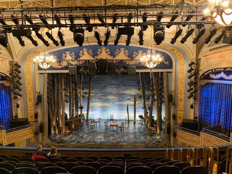 Vista sentada para Gerald Schoenfeld Theatre Secção Mezzanine C Fila K Lugar 110