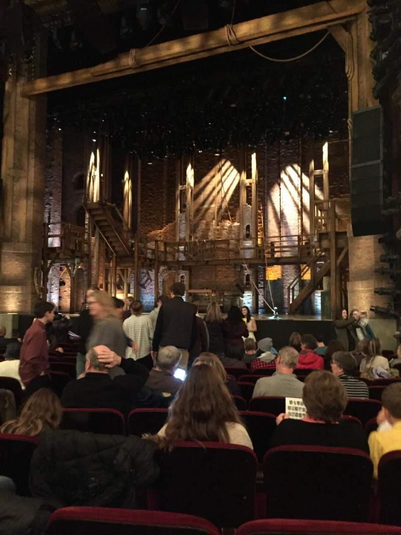Vista sentada para CIBC Theatre Secção Orchestra R Fila P Lugar 8