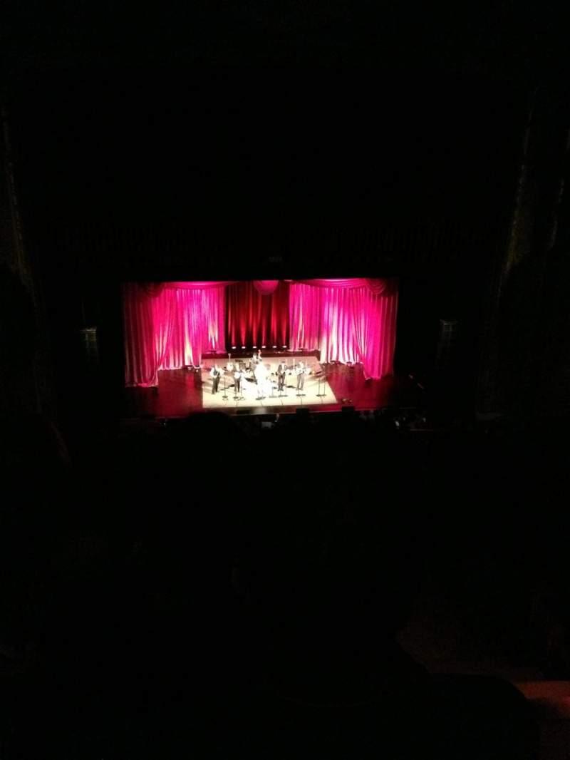 Vista sentada para Chicago Theatre Secção Balcony3L Fila P Lugar 301