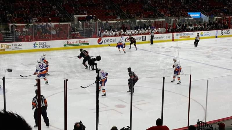 Vista sentada para PNC Arena Secção 123 Fila r Lugar 8