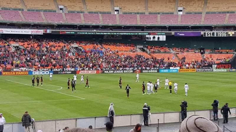 Vista sentada para RFK Stadium Secção 212 Fila 14 Lugar 7