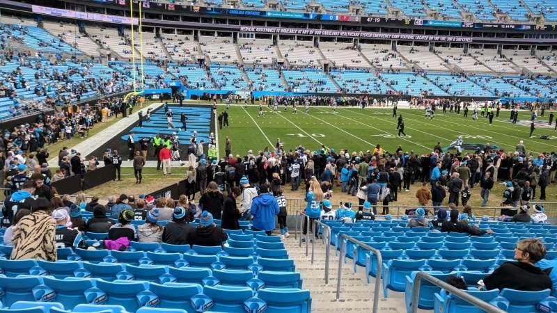 Vista sentada para Bank of America Stadium Secção 136 Fila 14 Lugar 1