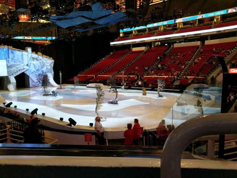 Vista sentada para PNC Arena Secção 130 Fila k Lugar 1