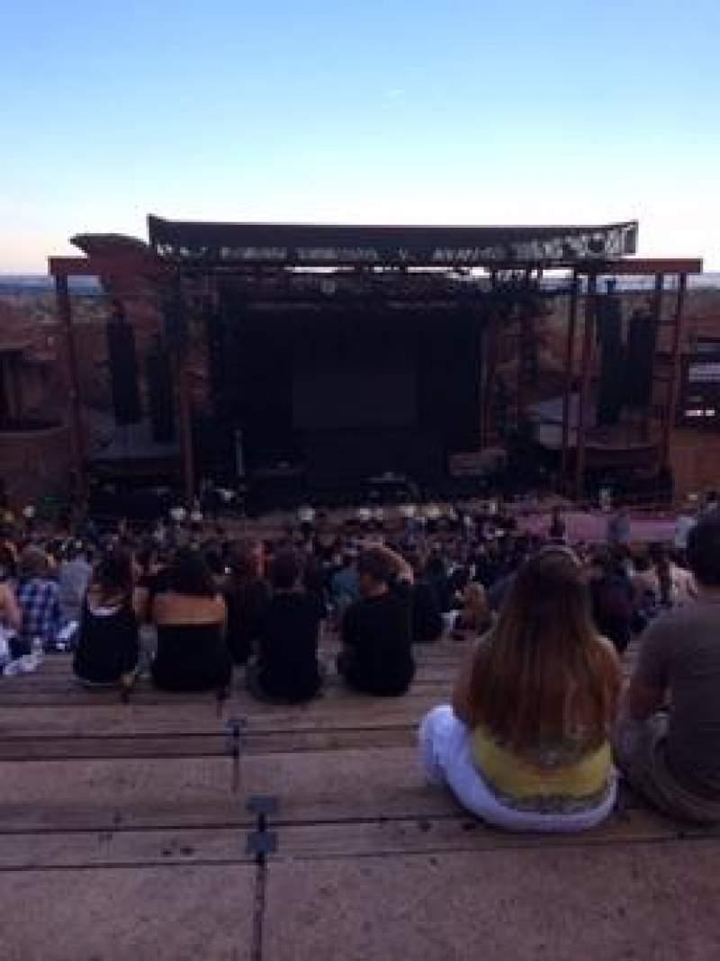 Vista sentada para Red Rocks Amphitheatre Secção Reserved Fila 29 Lugar 96
