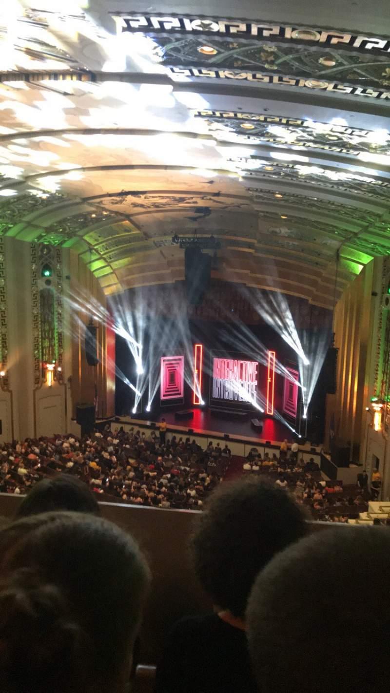 Vista sentada para The Bushnell Center for the Performing Arts - Mortensen Hall Secção Balcony E Fila C Lugar 228