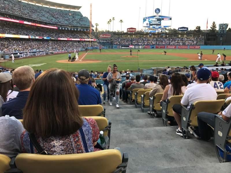 Vista sentada para Dodger Stadium Secção 10FD Fila M Lugar 11