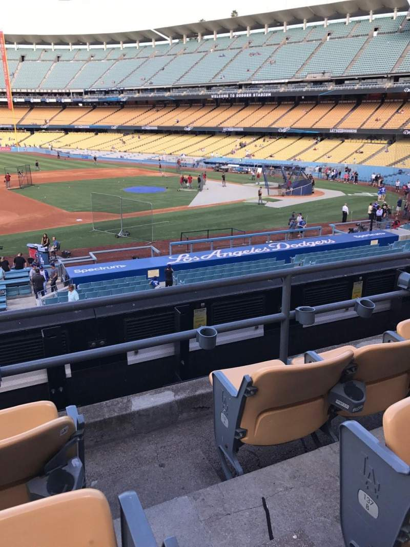 Vista sentada para Dodger Stadium Secção 139LG Fila C Lugar 1