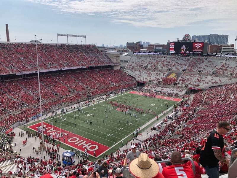 Vista sentada para Ohio Stadium Secção 9C Fila 37 Lugar 18