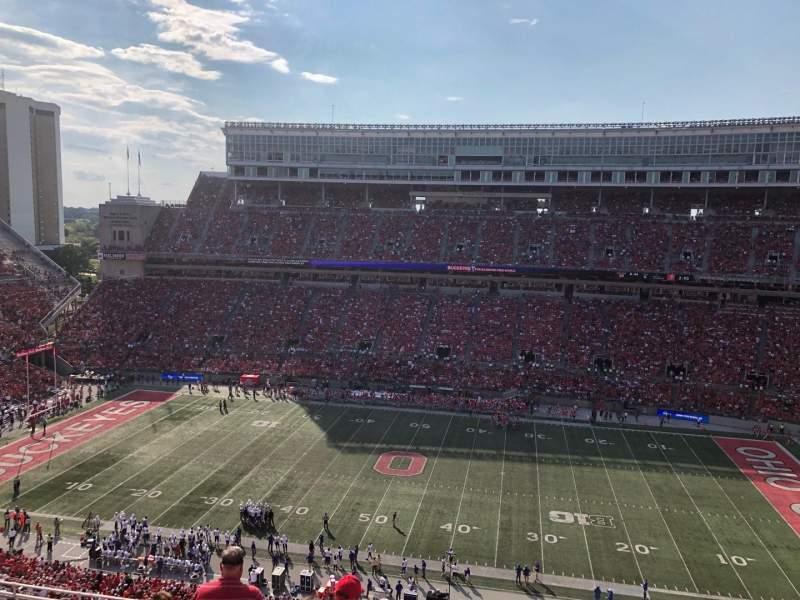 Vista sentada para Ohio Stadium Secção 20c Fila 18 Lugar 15-16