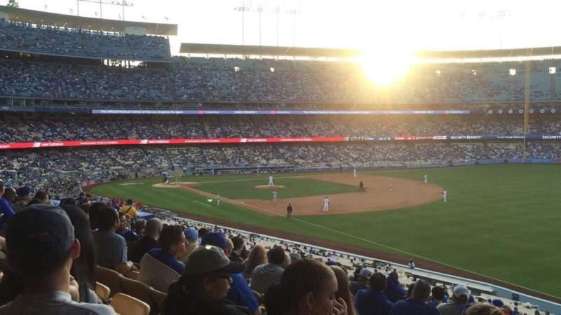 Vista sentada para Dodger Stadium Secção 158LG Fila N Lugar 16