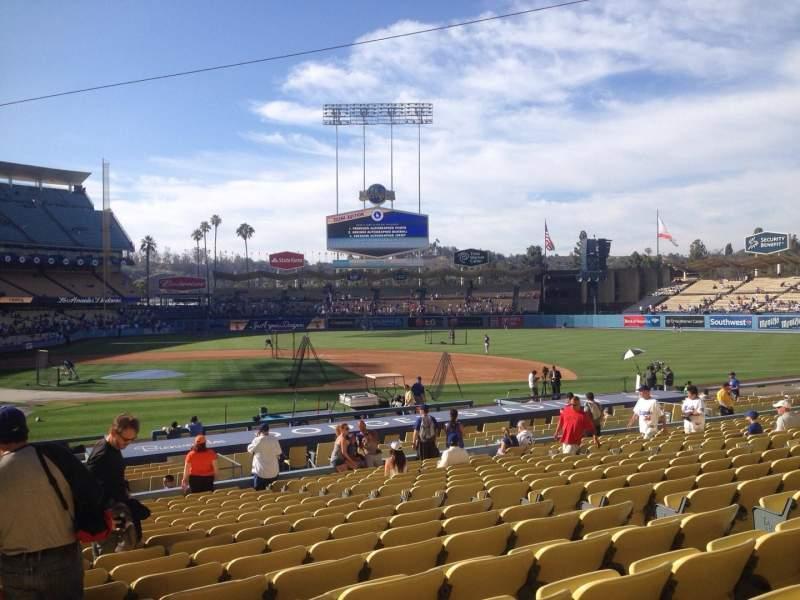 Vista sentada para Dodger Stadium Secção 16fd Fila S Lugar 1