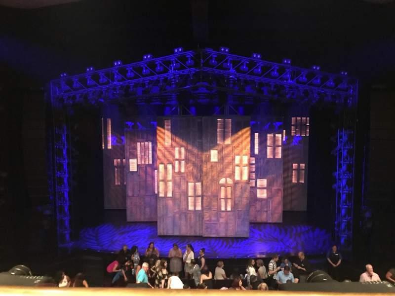 Vista sentada para Marquis Theatre Secção Mezzanine C Fila A Lugar 110 & 111